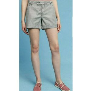 Anthropologie Level 99 Shorts Linen Cargo Casual
